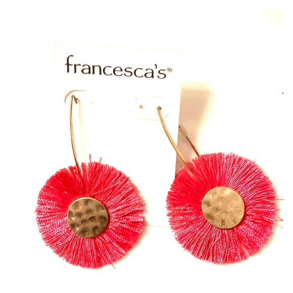 Francesca's Collections Jewelry - A pink flower sparkle for your ears